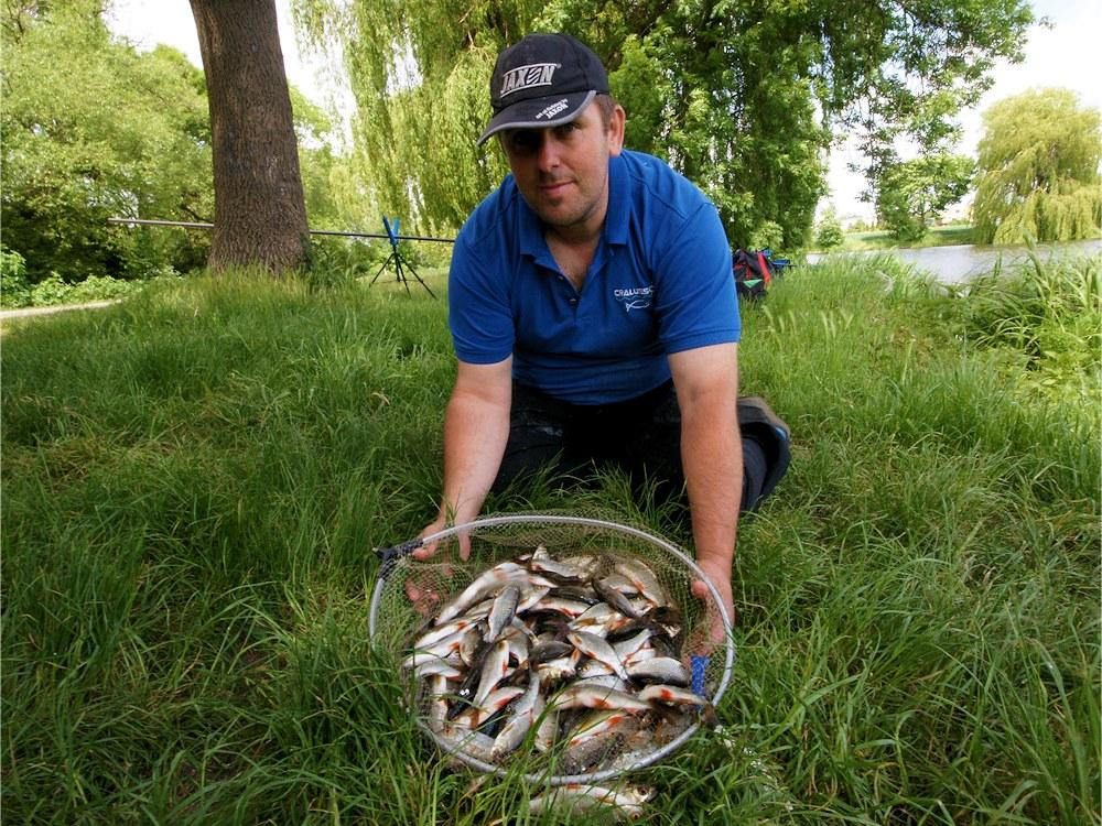Rozpoznanie łowiska w Pudliszkach przed sobotnimi zawodami.