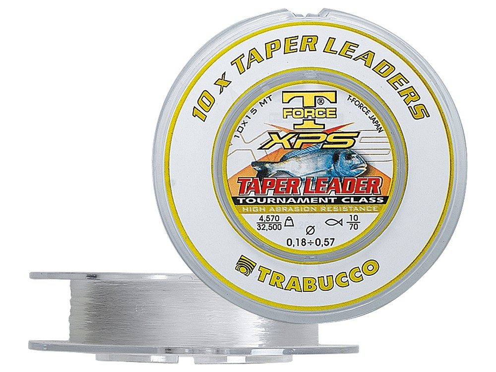 �Y�KA T-FORCE XPS TAPER LEADER 0,23-0,57mm - 10 X 15 M