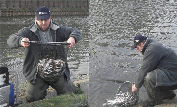 połów i uwolnienie ryb